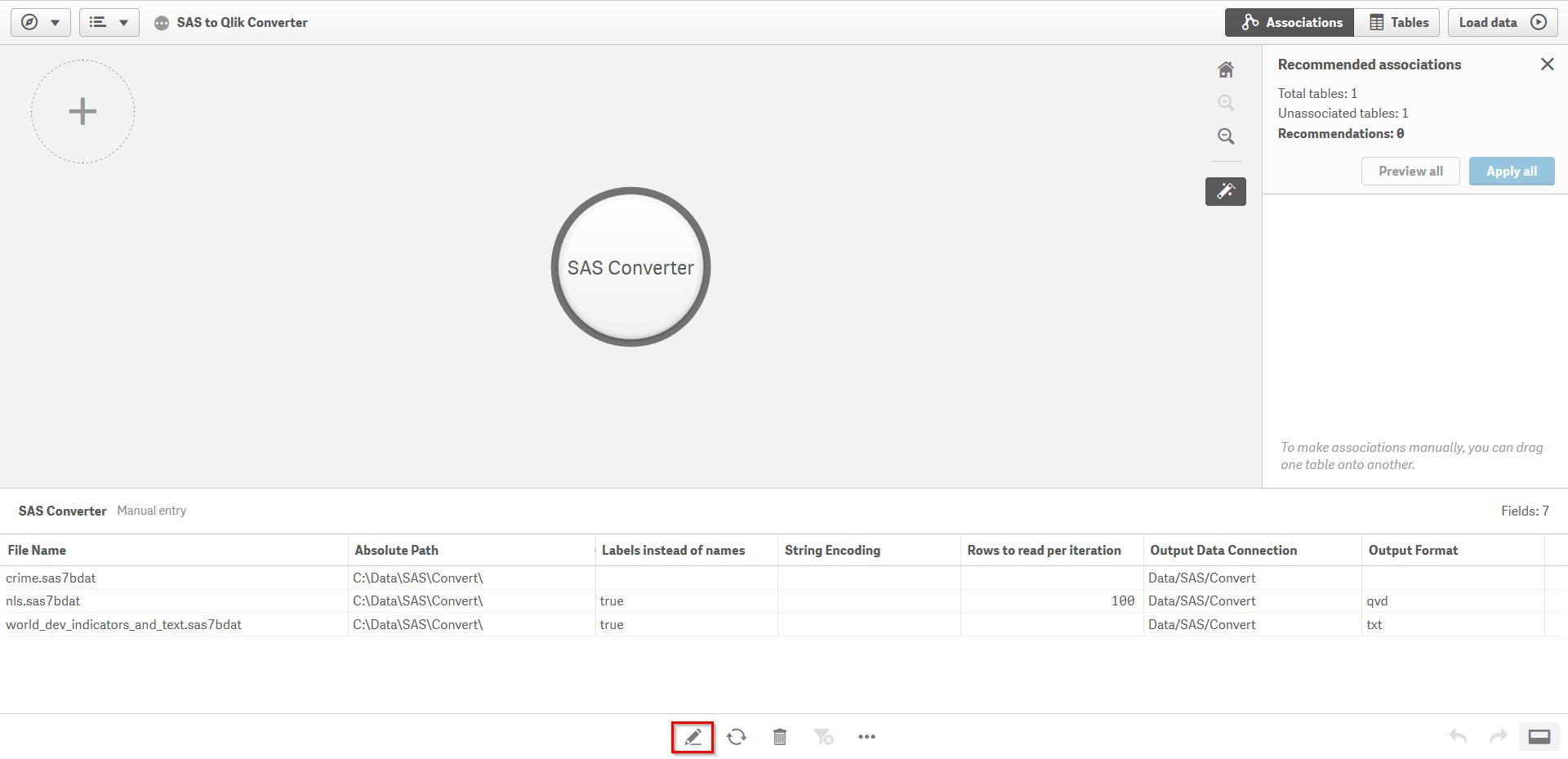 Load SAS Datasets into Qlik | qlik-sas-reader